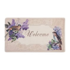 Alfombra felpudo pájaros Welcome