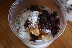 Overnight oats with Greek yogurt