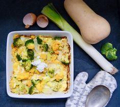Omlette au four au brocoli, potiron, poireau et lardons Omelette, Quiche, Breakfast, Food, Al Dente, Gourd, Onion, Seasonal Recipe, Dish