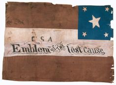 """Was it already considered a """"lost cause"""" in 1863?  Confederate flag captured at Chickamauga, 1863"""