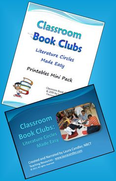 Classroom Book Clubs: Literature Circles Made Easy by Laura Candler - Step-by-step directions for getting Literature Circles up and running in your classroom. Includes 6 slidecast videos, a printables Mini Pack, note-taking pages, and a set of study guides. Great for PLC's and professional development! $
