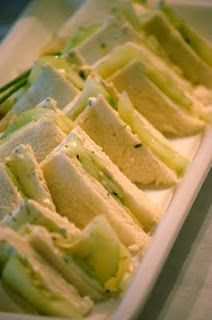 I love making cucumber sandwiches and my cucumber dip! Sooo good!
