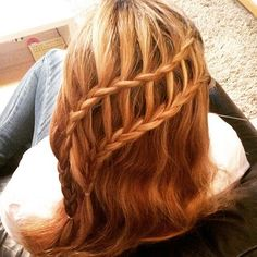 What do you get when you layer two waterfall braids on top of each other? A ladder. This style takes those extra cascading pieces and creates second plait. Don't be surprised if you have to talk to yourself while you practice this one. Video Tutorial: Learn to Do a Ladder Braid