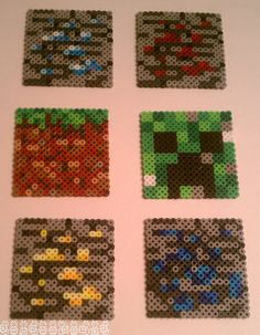 Set of 6 Minecraft coasters - $22.00 on Etsy