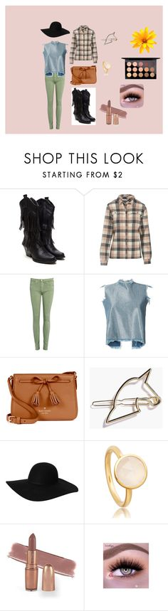 """""""ranch"""" by osevera on Polyvore featuring Woolrich, AG Adriano Goldschmied, Marques'Almeida, Kate Spade, Monki and MAC Cosmetics"""