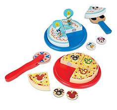 Melissa & Doug Mickey Mouse Wooden Pizza & Birthday Cake Set