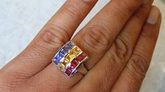 AAA quality natural semi precious stone ring in by versaillegems