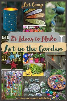 Plant Markers, Garden Markers, Kid Art, Art For Kids, Tin Can Lanterns, Make Art, How To Make, Garden Games, Veg Garden