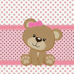little baby girl bear Tatty Teddy, Teddy Bear, Decoupage, Baby Shawer, Bear Party, Cute Clipart, Baby Cards, Baby Quilts, Illustration