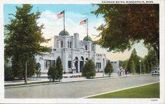 1941 Calhoun Baths Minneapolis Minnesota Vintage Postcard
