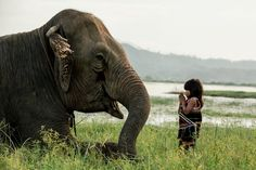 M'Nong minority with elephant in Buon Ma Thuot