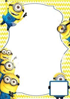 New minions invitation template Ideas Free Online Birthday Invitations, Minion Birthday Invitations, Birthday Invitation Templates, Invitation Cards, Minion Birthday Card, Minion Card, Birthday Cakes, Minion Theme, First Birthday Parties