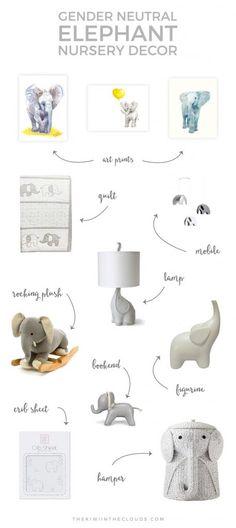 Elephant Nursery | Girl Boy Neutral | Elephant Bedding | Elephant Ideas