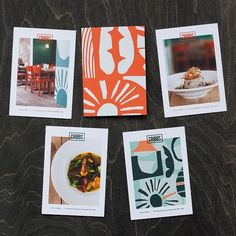 Promotional cards for @cribbsrestaurant #brand #design #print #illustration #photography #carribean #streetfood