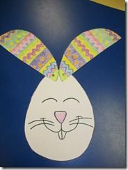 egg or bunny?---the students loved this cute Easter project (easy and fun)