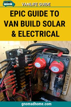 Do you want to live vanlife but are confused about solar panels, inverters, wiring, and lighting for your van build? This guide has everything you need to know to install your own solar and electrical in your diy campervan build out. Van Conversion Interior, Camper Van Conversion Diy, Solar Panel Inverter, Solar Panels, Van Conversion Electrics, Go Kart, Enclosed Trailer Camper, Van Camping, Sprinter Van