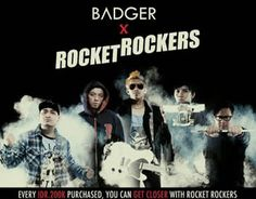 collabs with rocket rockers band
