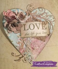 Wall plaque, made using Sara Signature Shabby Chic Collection – Designed By Susanne Lovering Shabby Chic Plaques, Wedding Plaques, Shabby Chic Wedding Decor, Shabby Chic Hearts, Crafters Companion Cards, Collage Design, Wedding Anniversary Cards, Heart Cards, Vintage Crafts