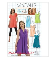 Pattern: McCall's DIY Style M6031  Size:E (14-18)  Availability: OOP  Condition: Uncut, Factory Folded  Swapper: Konnie Kapow  Will swap for: patterns, fabric,trims/ notions, buttons, books and more...