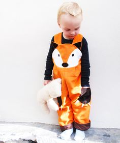 Little boys fox dungaree overall. $62.00, via Etsy.