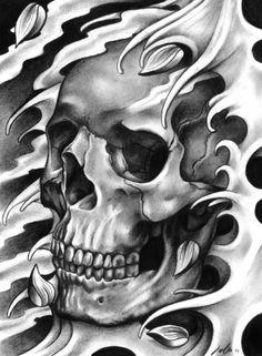 Skull & Petals Art Print