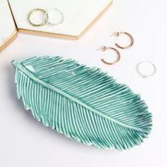 Temerity Jones Blue Palm Leaf Dish