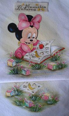 Minie - Pintura em Flanela Maricélia Montanari Silva #mariceliapinturas
