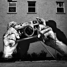 Graffiti has come along way from tagging/bombing trains from NY.  Gotta love artist for sharing their talents and imagination with the world for everyone to see. #graffiti #camera #canon #hands #art #streets #urban #blackandwhite #awesome #photography