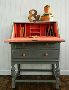 lovely painted antique desk