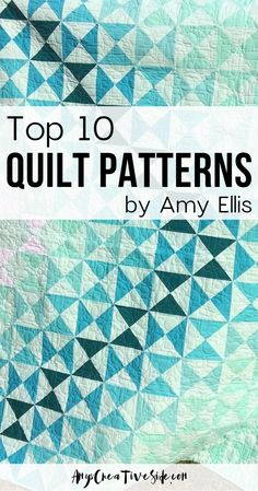 Bestselling Quilt Patterns of 2019 - Amy's Creative Side Beginner Quilt Patterns, Quilting For Beginners, Quilt Patterns Free, Quilting Tutorials, Simple Quilt Pattern, Quilting Ideas, Easy Quilts, Mini Quilts, Traditional Quilt Patterns