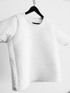 White quilted T-shirt