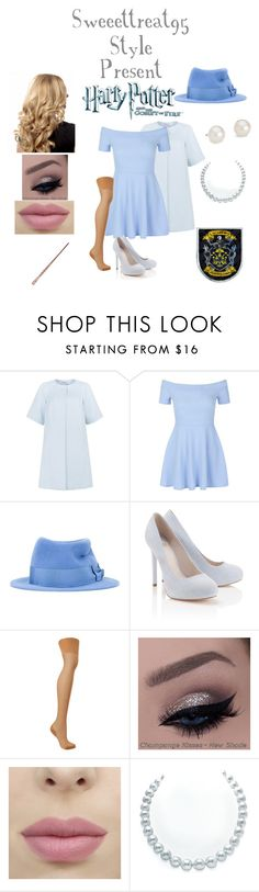 """""""Beauxbatons Style."""" by sweeettreat95 ❤ liked on Polyvore featuring Peridot London, New Look, Maison Michel, Lipsy, Agent Provocateur, Blue Nile and Academie"""
