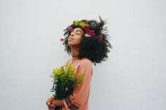 The Man Who Loved Flowers. 1/3  Fastest way to get flowers out of your hair? Shake it.  Briana King - February 2016  Photographed by - Brandon Stanciell