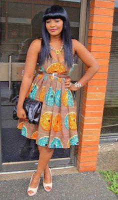 Nice dress for any occasion. I love this print. It usually comes in different colors and combination.