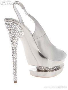 Silver Adorned Stilettos