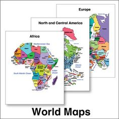 ESL - World Maps - You'll use these colorful, easy-to-read maps again and again!