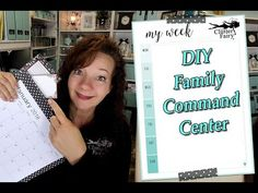 Today I am going to show you how to stay on top of your busy schedule by creating DIY a Family Command Center! Family Command Center, Tidy Up, Crafts To Do, Clean Up, How To Find Out, Organization, Crafty, Storage, Youtube