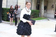 Street looks à la Fashion Week haute couture de Paris, Jour 3 La socialite Olivia Palermo