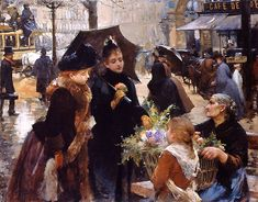 Louis Marie de Schryver (French artist, 1862-1942) After the Theater Laverse Place