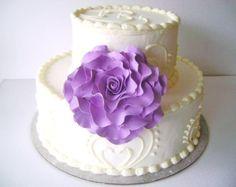 White Rose Cake Topper Flower Cake Topper Wedding Cake by parsi
