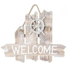 Nautical Welcome Wood Wall Plaque