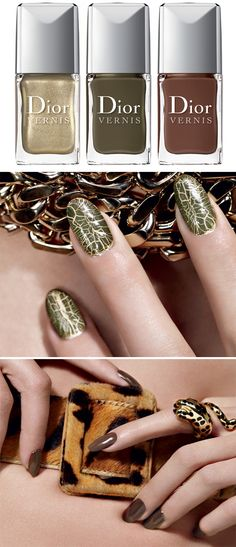 Dior Golden Jungle Makeup Collection for Fall 2012 le vernis