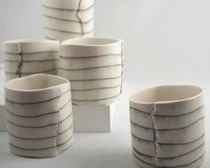 short porcelain cups by Brooke Winfrey