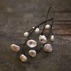 sale 10 % off coupon code OCTOBER10 pearl bridal earrings  sterling silver  white pearl  wedding earrings  simple flower earrings