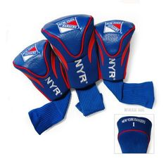 Team Golf New York Rangers Contour Sock Head Covers 3-Pack - Golf Equipment, Collegiate Golf Products at Academy Sports