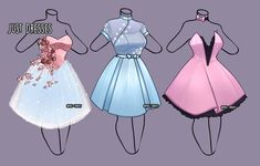 Just Dresses outfit adopt [close] by Miss-Trinity on DeviantArt : Just Dresses o… - Kleidung Ideen 2020 Manga Clothes, Drawing Anime Clothes, Dress Drawing, Clothing Sketches, Dress Sketches, Anime Outfits, Dress Outfits, Kleidung Design, Anime Dress