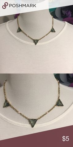 J. Crew Necklace Light weight necklace great for layering - translucent blue triangles. Jewelry Necklaces