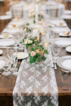 Gorgeous simple table setting