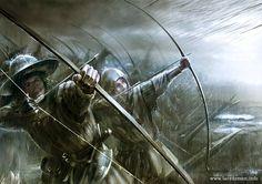 English Longbowmen at the Battle of Agincourt by Mariusz Kozik vel Lacedemon