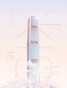The International Commerce Centre in Hong Kong, 484m, 83 floors